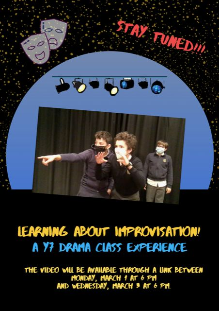 Learning about improvisation! A Y7 drama class experience