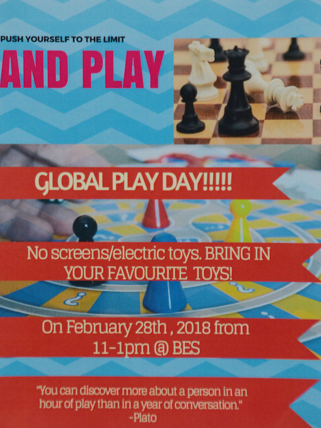 GLOBAL SCHOOL PLAY DAY Feb 28th